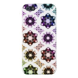 Rainbow Alien Eye Fractal Art Pattern iPhone 5 Cases