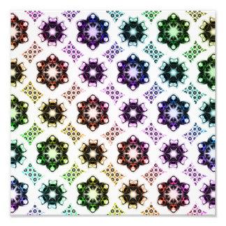 Rainbow Alien Eye Fractal Art Pattern Photograph