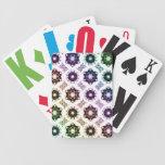 Rainbow Alien Eye Fractal Art Pattern Poker Deck