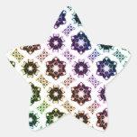 Rainbow Alien Eye Fractal Art Pattern Stickers