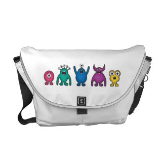 Rainbow Alien Monsters Bag Courier Bag