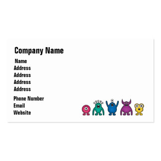 Rainbow Alien Monsters Business Card Templates