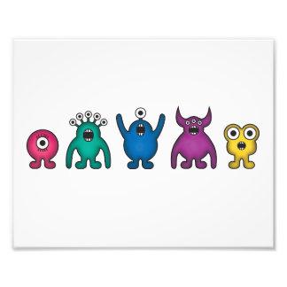 Rainbow Alien Monsters Photo Print