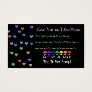Rainbow Aliens Business Card