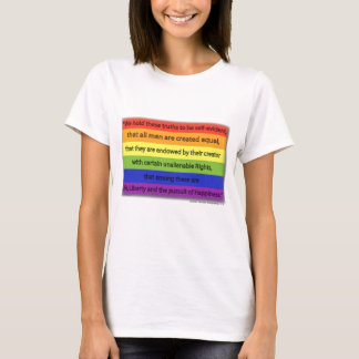 Rainbow - All Men are Created EQUAL T-Shirt