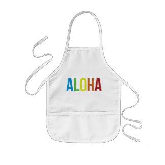 Rainbow Aloha Kids' Apron