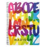Rainbow Alphabet Kids Spiral Notebook