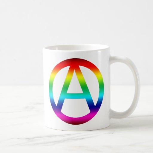 Rainbow Anarchy Symbol Coffee Mug