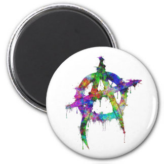 Rainbow Anarchy Symbol Magnet