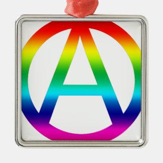Rainbow Anarchy Symbol Christmas Tree Ornaments
