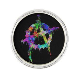 Rainbow Anarchy Symbol Pin