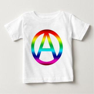 Rainbow Anarchy Symbol T Shirt