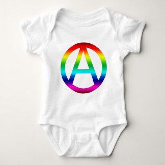 Rainbow Anarchy Symbol T-shirt