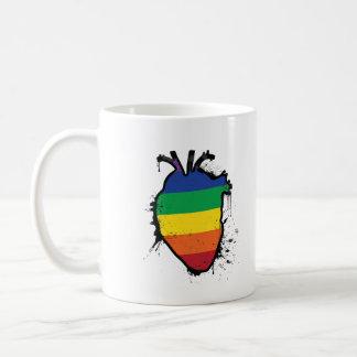 rainbow anatomical heart coffee mug