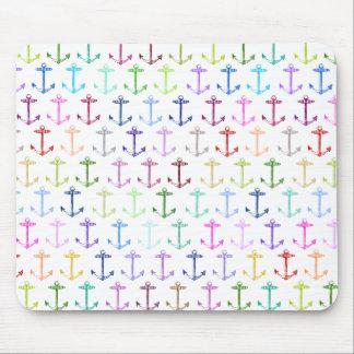 Rainbow anchor pattern mousepad