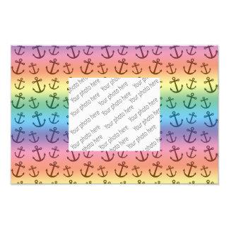 Rainbow anchor pattern photograph