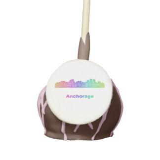 Rainbow Anchorage skyline Cake Pops