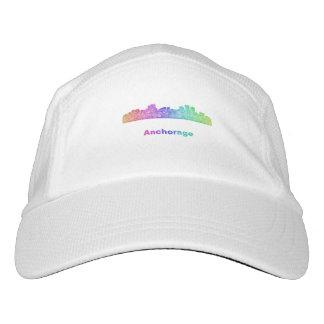 Rainbow Anchorage skyline Hat