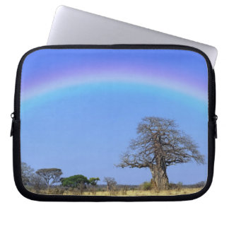 Rainbow and African baobab tree, Adansonia Laptop Sleeve