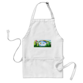 Rainbow and balloons adult apron