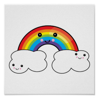 rainbow and cloud pals posters