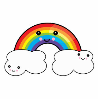 rainbow and cloud pals statuette