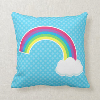 Rainbow and Cloud Throw Pillow