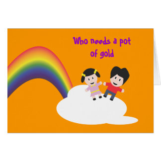 Rainbow and Clouds Friendship Card