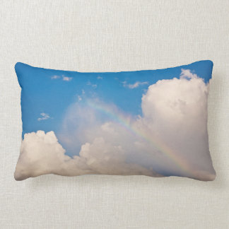 Rainbow and Clouds Pillow