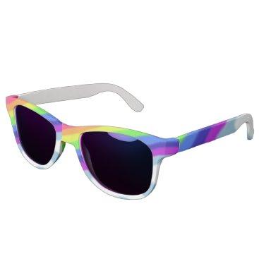 Beach Themed Rainbow and Clouds Sunglasses