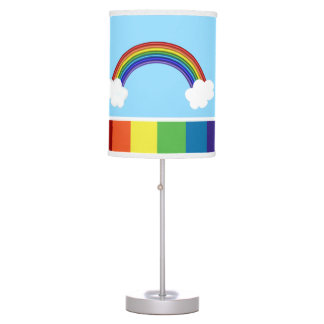 Rainbow And Clouds Table Lamp