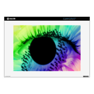 rainbow and eye skins for laptops