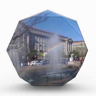 Rainbow and Fountain in Washington, D.C. Acrylic Award