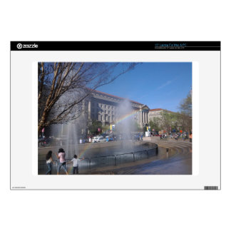 """Rainbow and Fountain in Washington, D.C. Skin For 15"""" Laptop"""