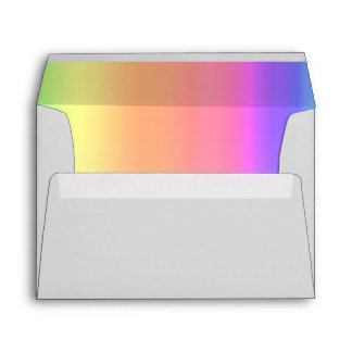 Rainbow and Gray Envelope