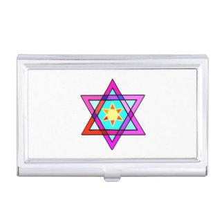 Rainbow and Jewish Stars Business Card Case