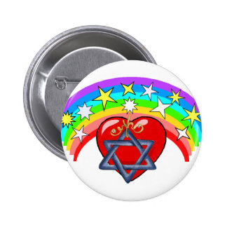 Rainbow and Jewish Stars Buttons