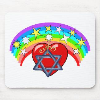 Rainbow and Jewish Stars Mouse Pads