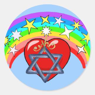 Rainbow and Jewish Stars Stickers