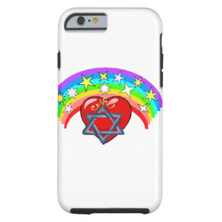 Rainbow and Jewish Stars Tough iPhone 6 Case