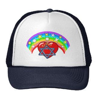 Rainbow and Jewish Stars Trucker Hat