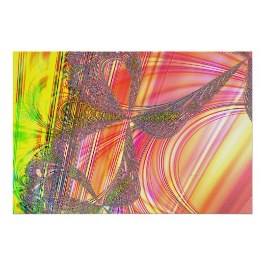 Rainbow and Lace Bow Poster
