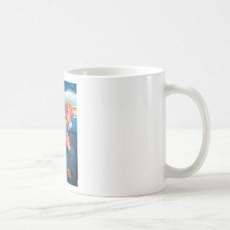 Rainbow and mermaid coffee mug