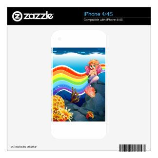 Rainbow and mermaid iPhone 4S decals