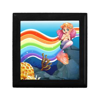 Rainbow and mermaid jewelry box