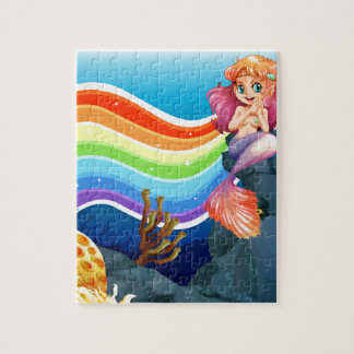 Rainbow and mermaid jigsaw puzzle
