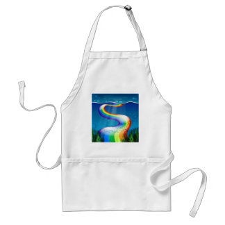 Rainbow and ocean adult apron