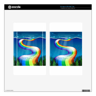Rainbow and ocean decals for kindle fire