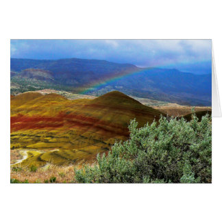Rainbow and Painted Hills 3 Greeting Card