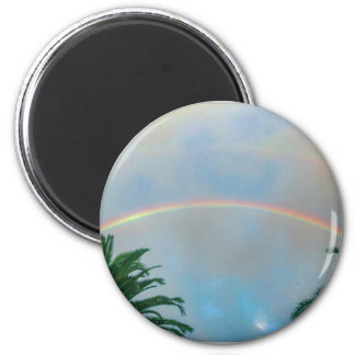 Rainbow and Palm Trees Magnet